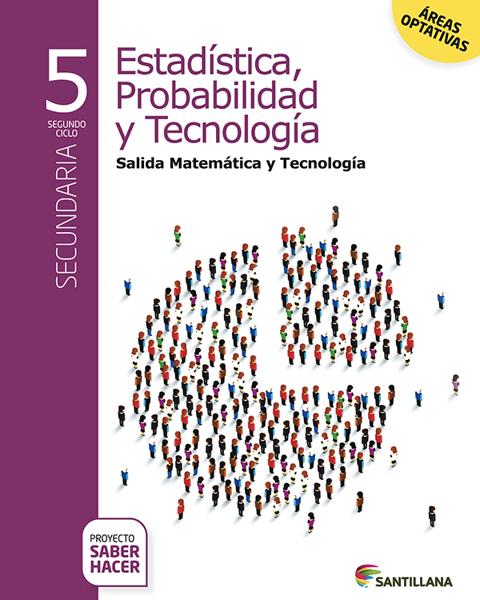 Imagen de ESTADISTICA PROBABILIDAD TECNOLOGIA 5 SABER HACER