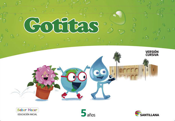 Imagen de CARPETA GOTITAS 5 AÑOS CURSIVA SABER HACER